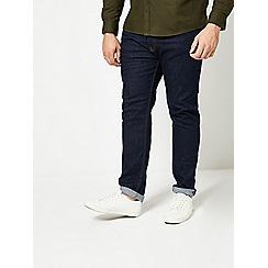 Burton - Big and tall tapered fit raw jeans