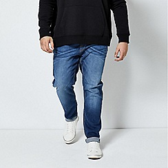 Burton - Mid blue tapered fit jeans