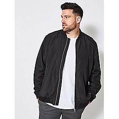 Burton - Big & tall black nylon bomber jacket