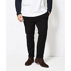 Burton - Big and tall black skinny fit stretch chinos