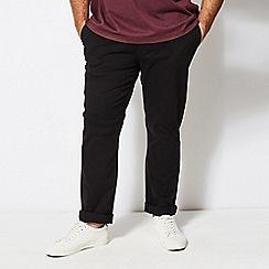 Burton - Big & tall black slim fit stretch chinos