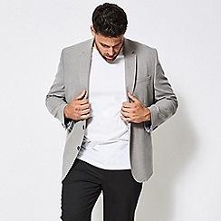 Burton - Big and tall grey wool look blazer