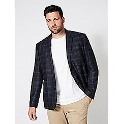 Burton - Big & tall wool check blazer