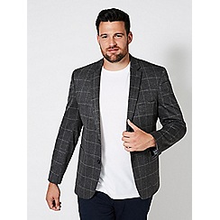 Burton - Big & tall windowpane blazer