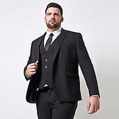 Burton - Big & tall black essential skinny fit suit jacket