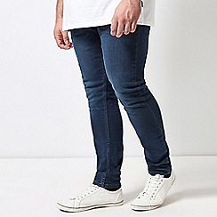 Burton - Big & tall blue overdye skinny fit jeans