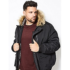 Burton - Big and tall black oak parka