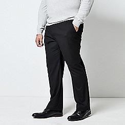 Burton - Black regular fit stretch trousers