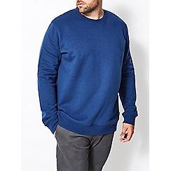 Burton - Big and tall cobalt blue crew neck sweatshirt