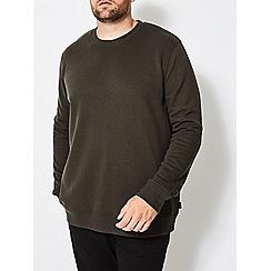 Burton - Big and tall khaki crew neck sweatshirt