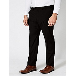 Burton - Big and tall slim stretch black trousers