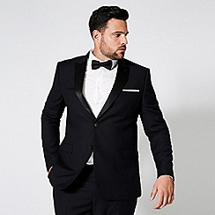 Burton - Black Slim Fit Stretch Tuxedo Suit Jacket