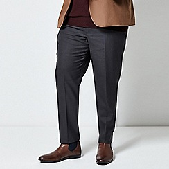 Burton - Black tailored fit check trousers
