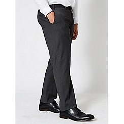 Burton - Big and tall charcoal tailored fit stretch trousers