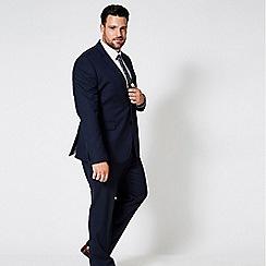 Burton - Navy Essential Tailored Fit Stretch Suit Jacket
