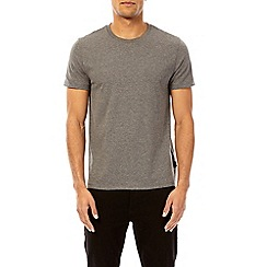Burton - 3 pack grey marl, raisin and navy crew neck t-shirts