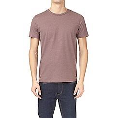Burton - Pink taupe marl crew neck t-shirt