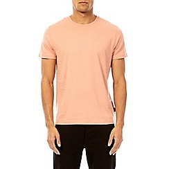 Burton - 3 pack white, coral and grey marl crew neck t-shirt