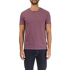 Burton - Burgundy marl crew neck t-shirt