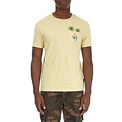 Burton - Yellow printed pocket t-shirt