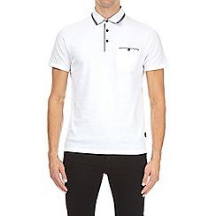 Burton - White double collar polo shirt