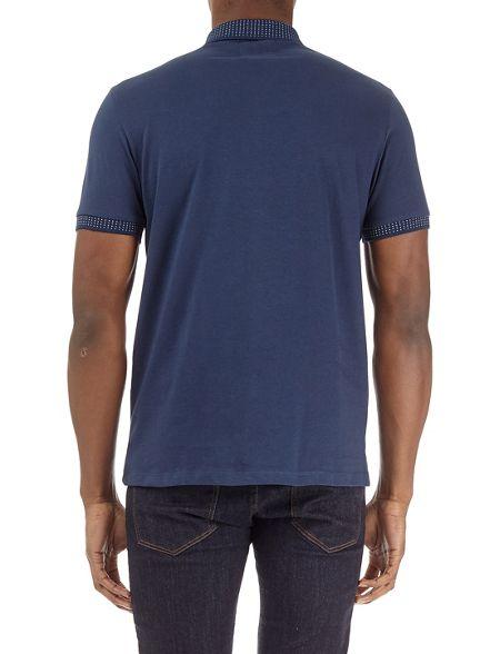 collar jacquard denim shirt polo Dark Burton HRqTxZvnw