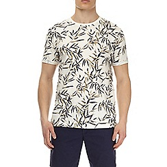 Burton - Ecru slub bamboo all over print t-shirt