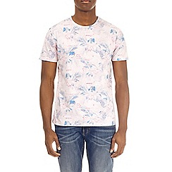 Burton - Pink floral all-over print t-shirt