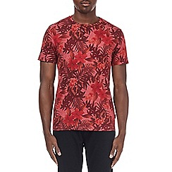 Burton - Red washed all over print t-shirt