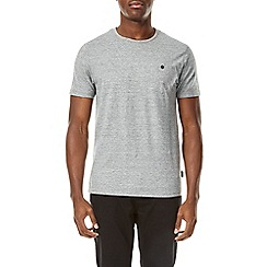 Burton - Grey textured short sleeve t-shirt