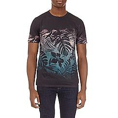 Burton - Black floral chest placement print t-shirt