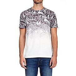 Burton - White and grey palm fade print t-shirt