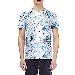 Burton - Pink and aqua floral all-over print t-shirt