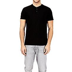 Burton - Black grandad t-shirt