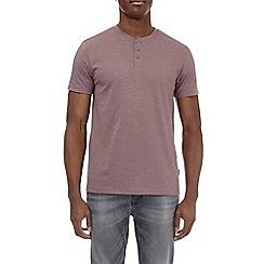 Burton - Pink taupe grandad t-shirt