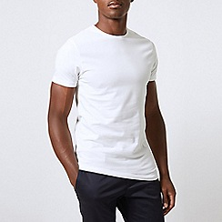 Burton - 2 pack white muscle fit t-shirts