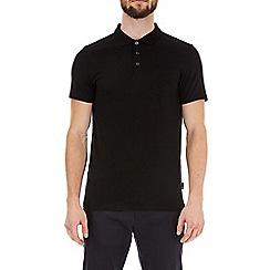 Burton - Black Short Sleeve Muscle Fit Polo Shirt