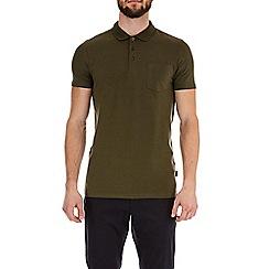 Burton - Khaki short sleeve muscle fit polo shirt