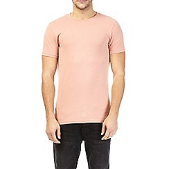 Burton - Hot coral muscle fit crew neck t-shirt