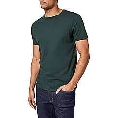 Burton - 5 pack white, black, charcoal, black grass green and fig tree crew neck t-shirt