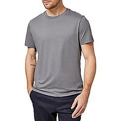 Burton - 5 pack two white, black, dark grey and fig tree crew neck t-shirt