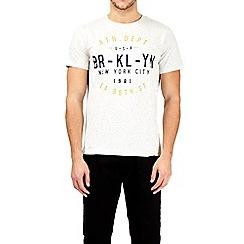 Burton - Ecru nepp Brooklyn athletic print t-shirt