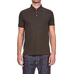 Burton - Khaki jaspe polo shirt