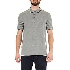 Burton - Khaki two-tone pique polo shirt