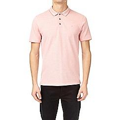 Burton - Coral two-tone pique polo shirt