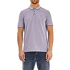 Burton - Purple haze two-tone pique polo shirt
