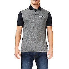 Burton - Grey jacquard polo shirt