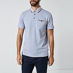 Burton - Lilac tri tip popcorn polo shirt