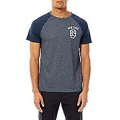 Burton - Navy '89' chest print raglan t-shirt
