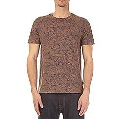 Burton - Bronze all over floral print t-shirt